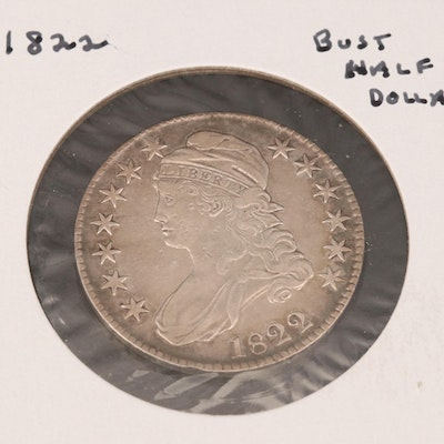 1822 Capped Bust Silver Half Dollar