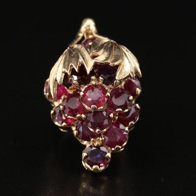 14K Ruby Grape Cluster Ring