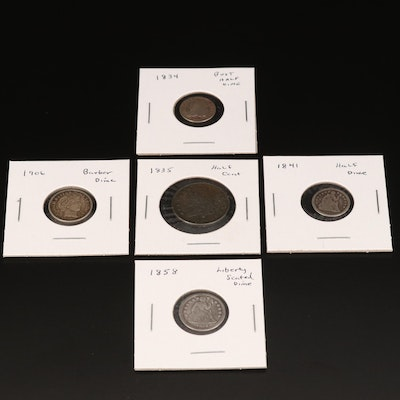 Five U.S. Type Coins Including Silver