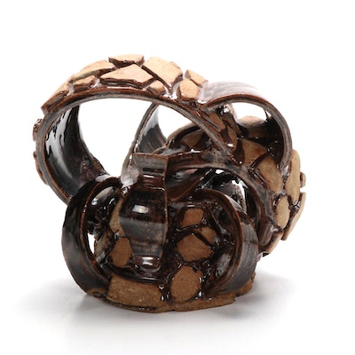 Abstract Art Pottery Sculpture, Mid to Late 20th Century