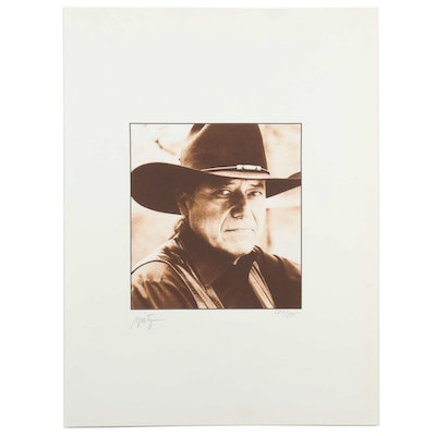 John Nieto Serigraph of Artist's Photo, 1996