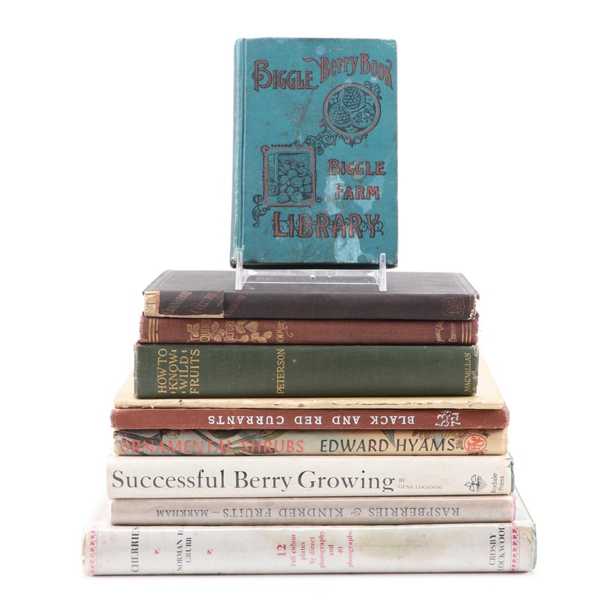 """Books on the Cultivation of Small Fruits Including """"Cranberry Culture"""""""