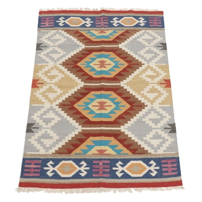 4'2 x 6' Handwoven Turkish Kilim Area Rug