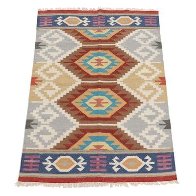 4'2 x 6' Handwoven Turkish Kilim Area Rug