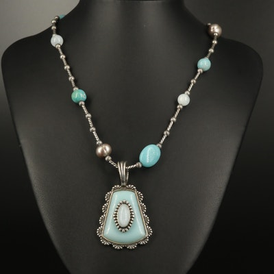 "Carolyn Pollack ""Sincerely Southwest"" Sterling Turquoise and Gemstone Necklace"