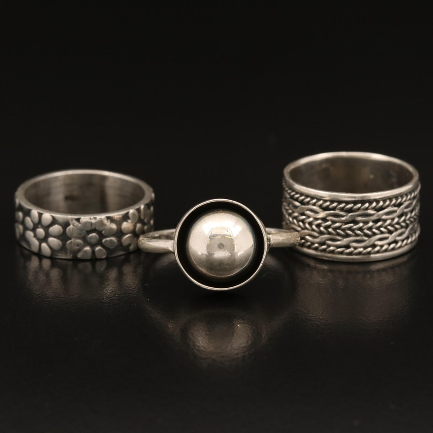 Mexican Sterling Silver Rings