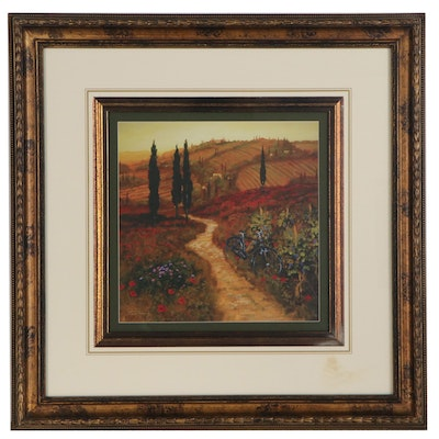"""Offset Lithograph after Steve Thomas """"Poppies Down The Lane"""""""