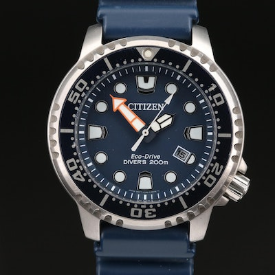 Citizen Eco-Drive Promaster Diver 200M Stainless Steel Wristwatch