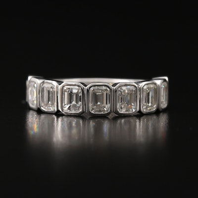 18K 2.34 CTW Bezel Set Diamond Ring