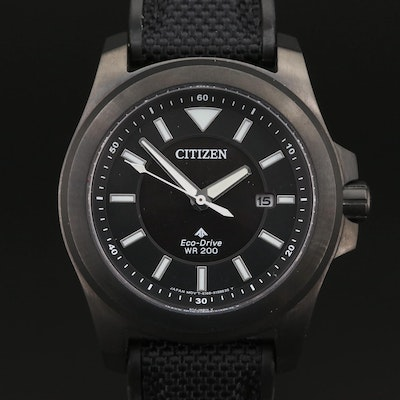 Citizen Eco-Drive Promaster Tough Black Stainless Steel Wristwatch