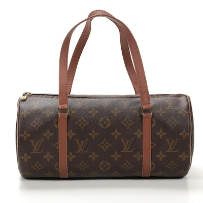 Louis Vuitton Papillon 30 Barrel Bag in Monogram Canvas and Leather