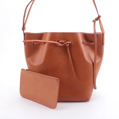 Mansur Gavriel Tan Leather Drawstring Shoulder Bag
