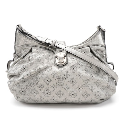 Louis Vuitton XS Bag in Metallic Silver Monogram Mahina Leather