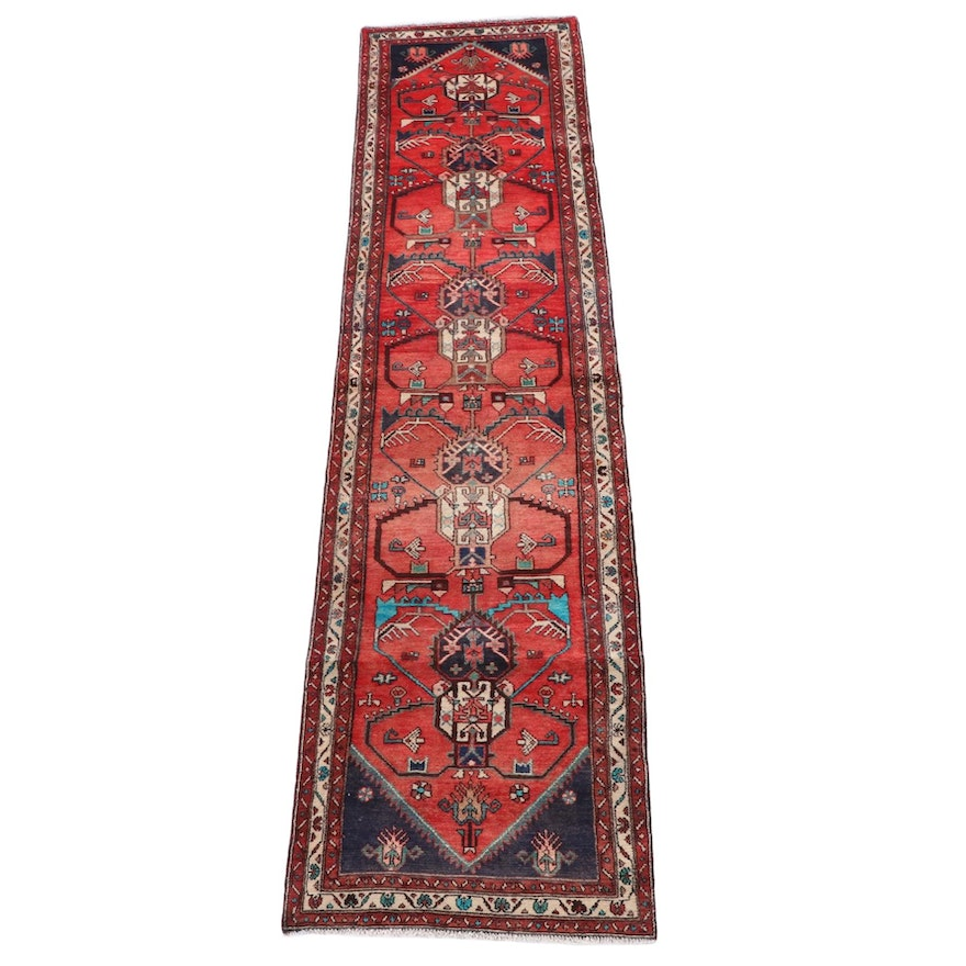 3'0 x 13'2 Hand-Knotted Persian Yalameh Wool Carpet Runner