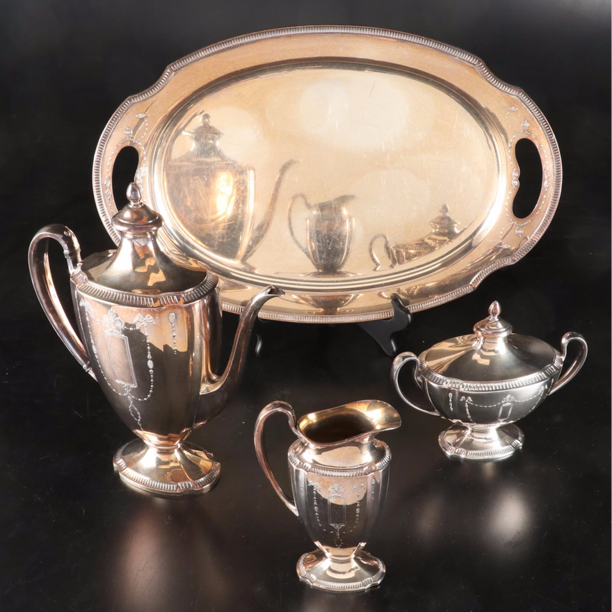 "Oneida ""Grosvenor"" Community Plate Coffee Service, Early to Mid 20th C."