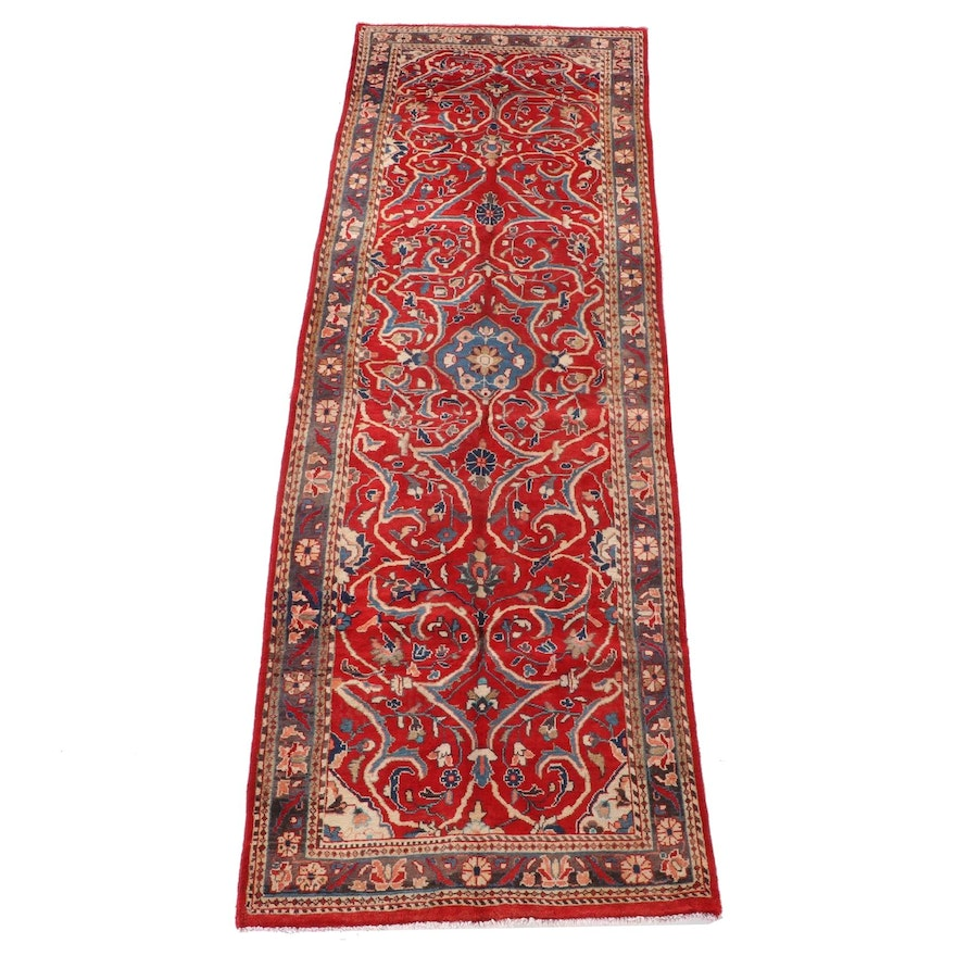 3'8 x 12'1 Hand-Knotted Persian Bijar Wool Long Rug