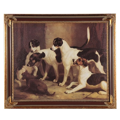 """Offset Lithograph after Thomas Woodward """"Peckeridge Hounds,"""" Late 20th Century"""