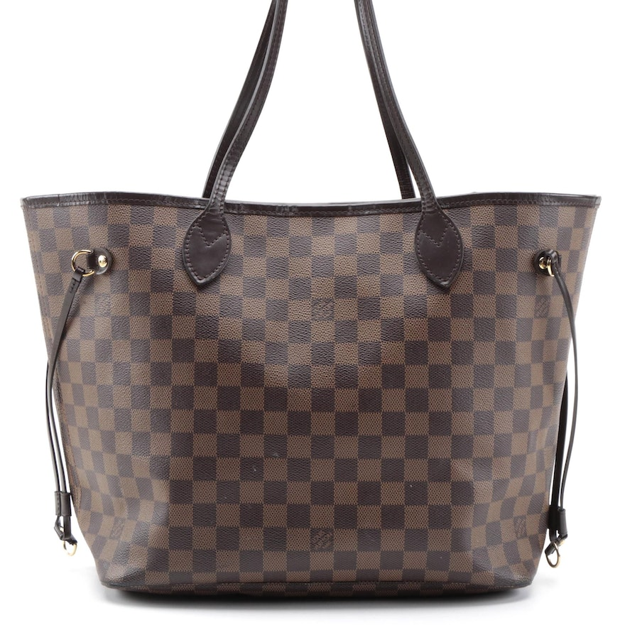 Louis Vuitton Neverfull Tote in Damier Ebene Coated Canvas