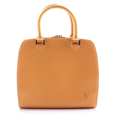 Louis Vuitton Mandarin Epi Leather Pont Neuf Satchel Bag, 1998