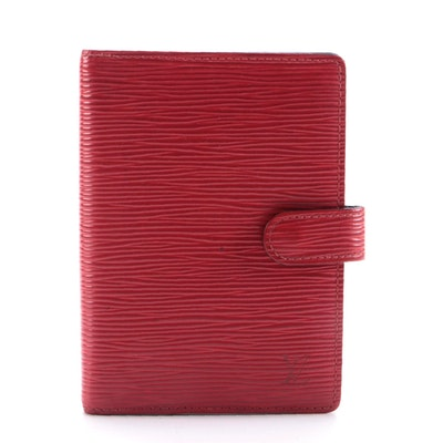 Louis Vuitton Agenda Planner PM in Red Epi Leather