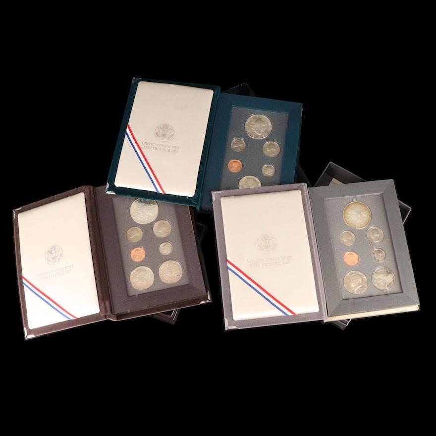 Three U.S. Mint Prestige Proof Sets