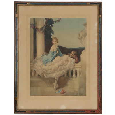 "Offset Lithograph after Walter Ernest Webster ""Romance"""