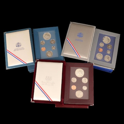 Three U.S. Mint Prestige Proof Sets