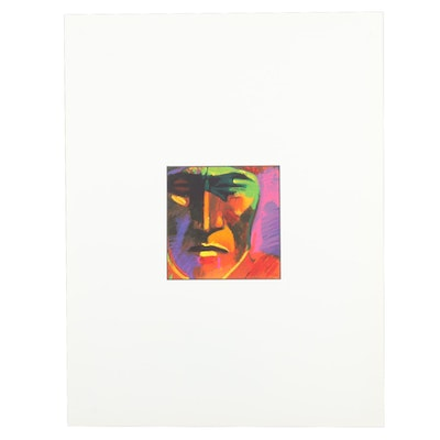 John Nieto Serigraph of Native American Portrait, 1996
