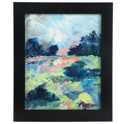"Claire McElveen Oil Painting ""Moon Lit,"" 2020"