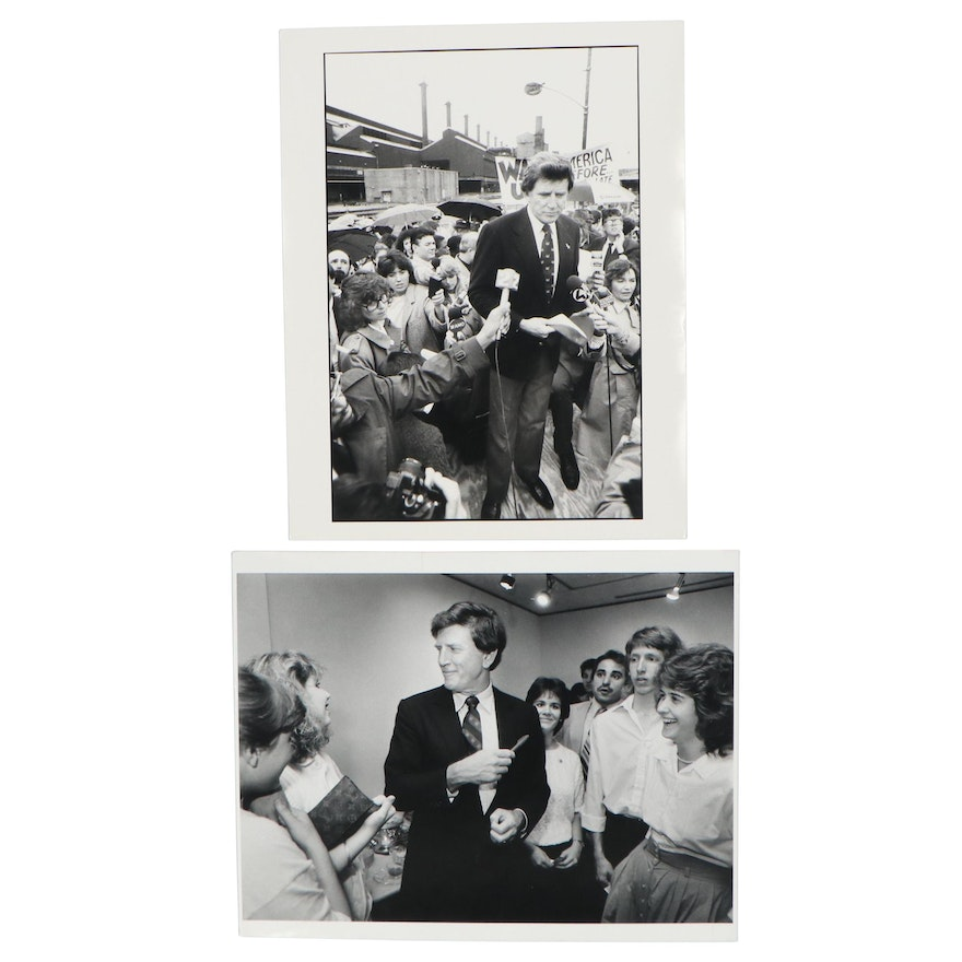William D. Wade Silver Gelatin Photographs of Gary Hart, Late 20th Century
