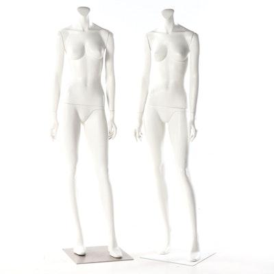 New John Nissen Molded Plastic Life Size Mannequins