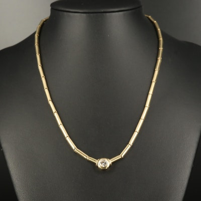 14K 0.55 CTW Diamond Solitaire Necklace