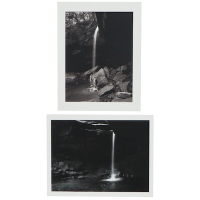 William D. Wade Inkjet Photographs of Waterfalls, Late 20th Century