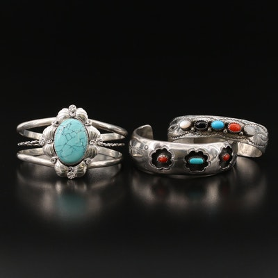 Southwestern Sterling Gemstone Cuffs Featuring J. Bahe