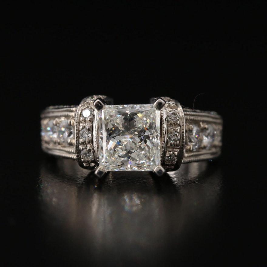 14K 2.90 CTW Diamond Ring