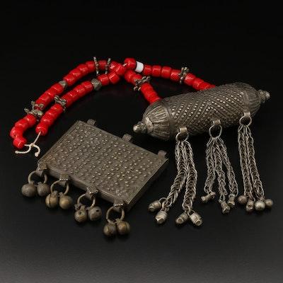 Omani Hirz Quran Box Pendants and Prayer Beads