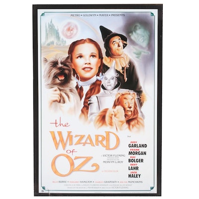 """The Wizard of Oz"" 50th Anniversary Reproduction Movie Poster, 1989"