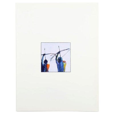 John Nieto Serigraph of Native American Archers, 1996