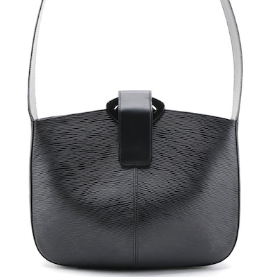 Louis Vuitton Reverie Shoulder Bag in Black Epi Leather