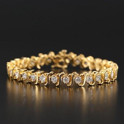 14K 5.45 CTW Diamond Line Bracelet