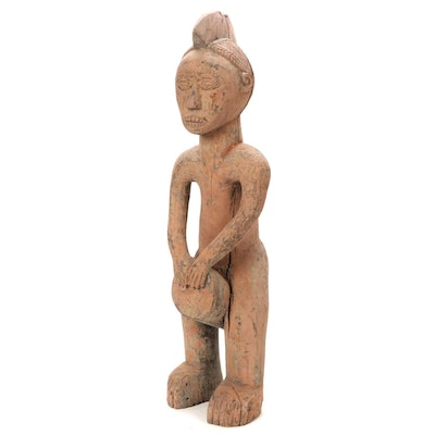 West African Hand-Carved Wood Figure
