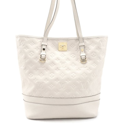 Louis Vuitton Citadine Handbag in Neige Empreinte Leather with Pochette