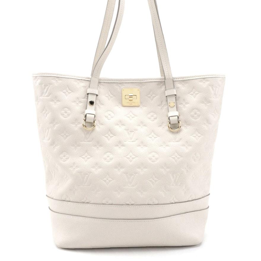 Louis Vuitton Citadine Handbag in Neige Empreinte Leather with Pochette