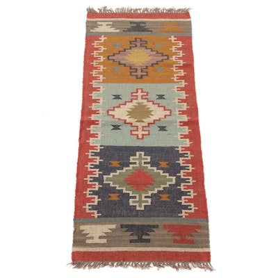 2'7 x 6'5 Handwoven Turkish Kilim Carpet Runner