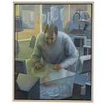 "Bruce Erikson Oil Painting ""The Maternity Ward Diorama,"" 2007-08"