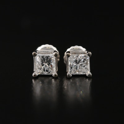 18K 1.00 CTW Diamond Stud Earrings