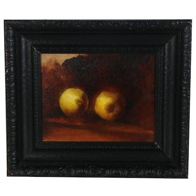 """Bruce Erikson Oil Painting """"Etude des Citrons,"""" 2020"""