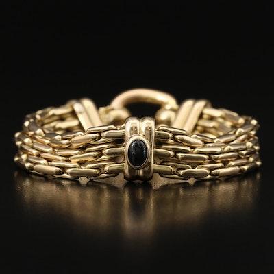18K Sapphire Triple Strand Bracelet