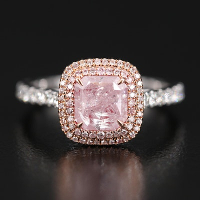 18K 1.79 CTW Diamond Ring with GIA Report