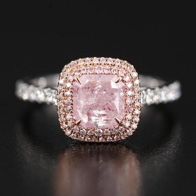 18K 1.79 CTW Diamond Ring with GIA Report